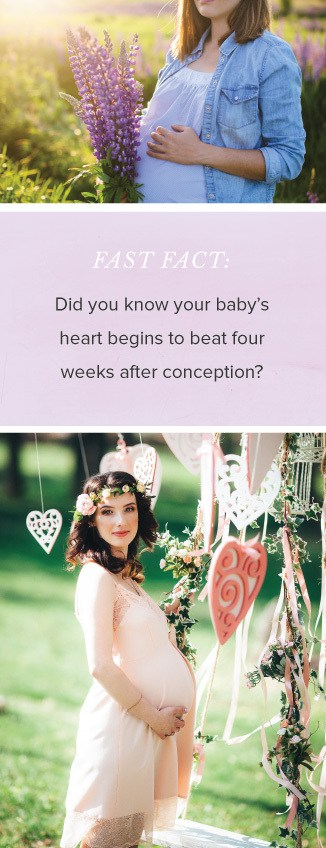 FAST FACT: Did you know your baby's heart begins to beat four weeks after conception?